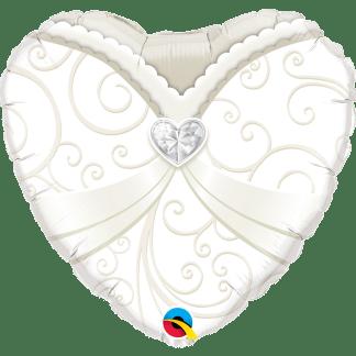 Folienballon Braut Gold weiss heiraten