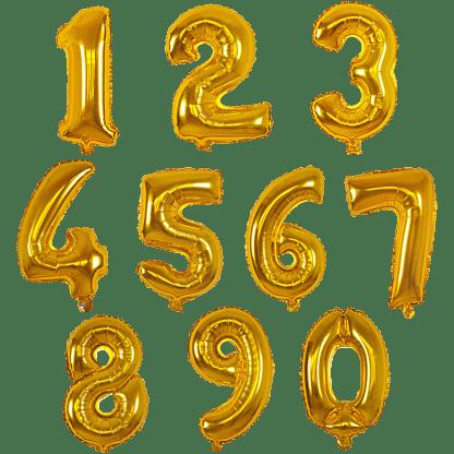 Folienballon Zahl Gold Geburtstag