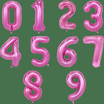 Folienballons Zahlen Pink Rosegold Geburtstag Saarland