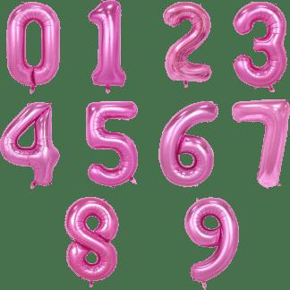 Folienballon Zahl Pink Geburtstag