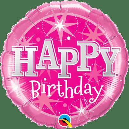 Folienballon Happy Birthday Pink Heliumballon Geburtstag Qualatex