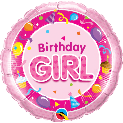 Folienballon Geburtstag Birthday Girl Pink Luftballons