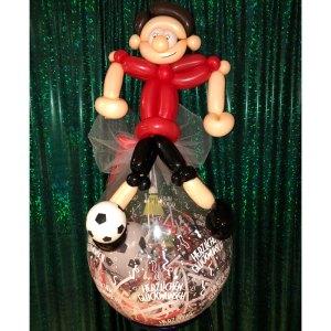 Geschenkballon Fußballspieler