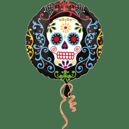 Folienballon Totenkopf