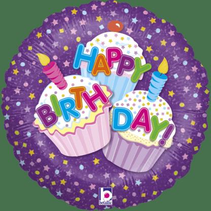 Happy Birthday Cupcake Glitzer