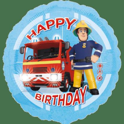 Ballon Folienballon Happy Birthday Feuerwehrman Sam