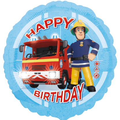 Ballon Feuerwehrman Sam Happy Birthday Heliumballons