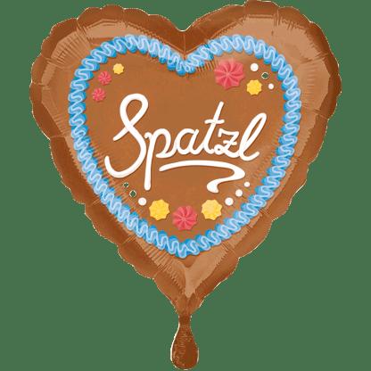 Folienballon Oktoberfest Herz Spatzl