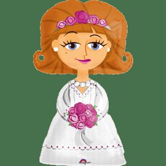 Folienballon Airwalker Hochzeit Braut