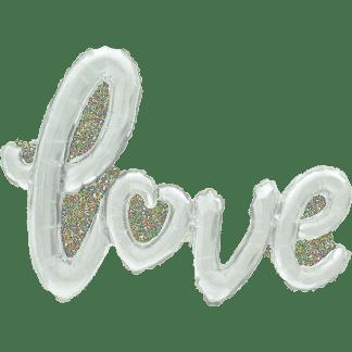 Folienballon Schrift Love Silber
