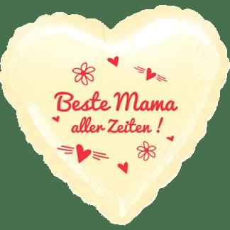 Folienballon Beste Mama aller Zeiten rot