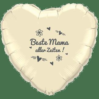 Folienballon Beste Mama aller Zeiten grau