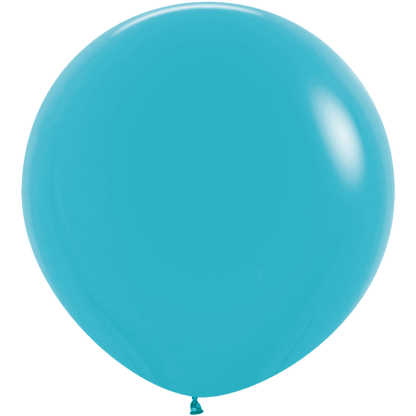 Sempertex Rundballon 90 cm Caribbean Blau