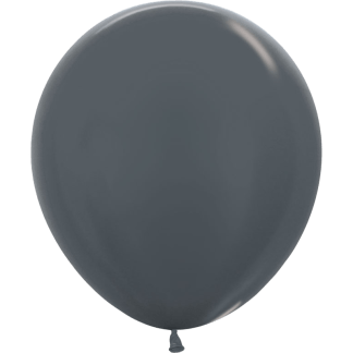 Sempertex Ballons Metallic Graphite 45 cm