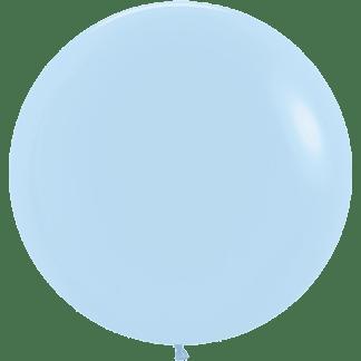 Sempertex Rundballon Pastell Matt Blau