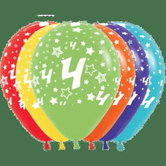 Geburtstag Ballons Fashion Zahl 4 Sterne