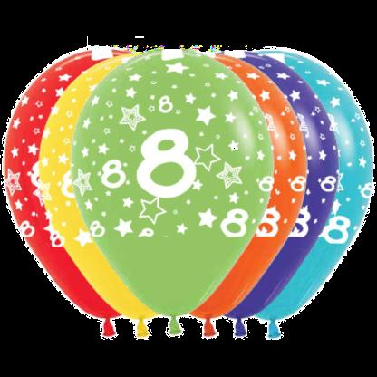 Geburtstag Ballons Fashion Zahl 8 Sterne