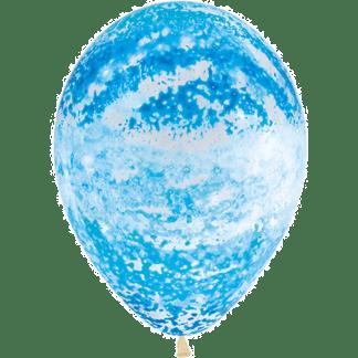 Sempertex Graffiti Ballon Blau Clear