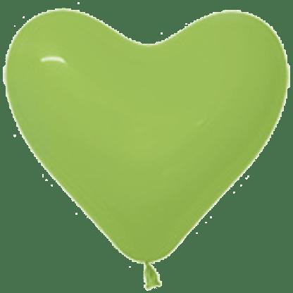 Sempertex Herzballons 15 cm Hellgrün