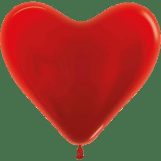 Sempertex Herzballons 35 cm Metallic Pearl Rot