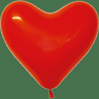 Sempertex Herzballons 15 cm Rot