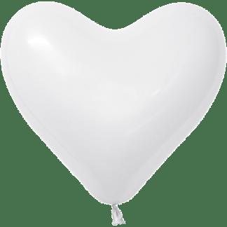 Sempertex Herzballons 40 cm Weiss