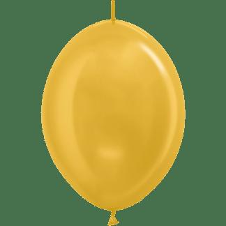 Sempertex Link O Loon Metallic 12 Inch Gold