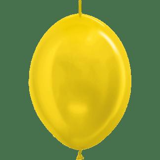 Sempertex Link O Loon 30 cm Metallic Gelb