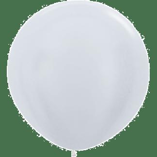 Sempertex Rundballon 90 cm Pearl Silber