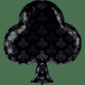 Folienballon Kartensymbol Kreuz Pokerkarte