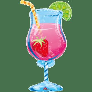 Folienballon Cocktail Glas Longdrink