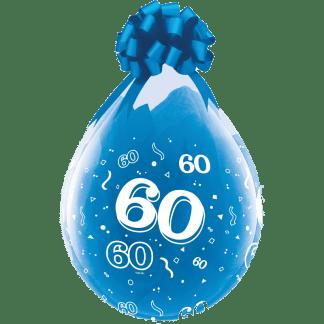 Qualatex Verpackungsballon 60 Geburtstag