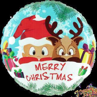Weihnachten Merry Christmas Weihnachtsmann und Rudolf