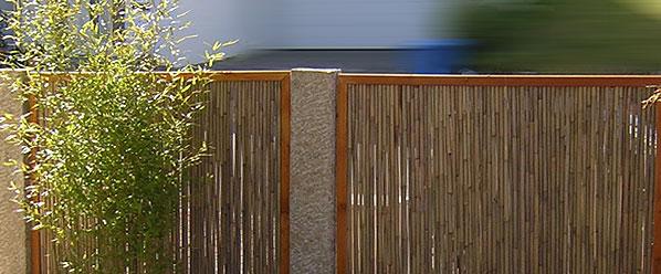 Brise Vue Bois Sichtschutz Aus Bambus Ist Ein