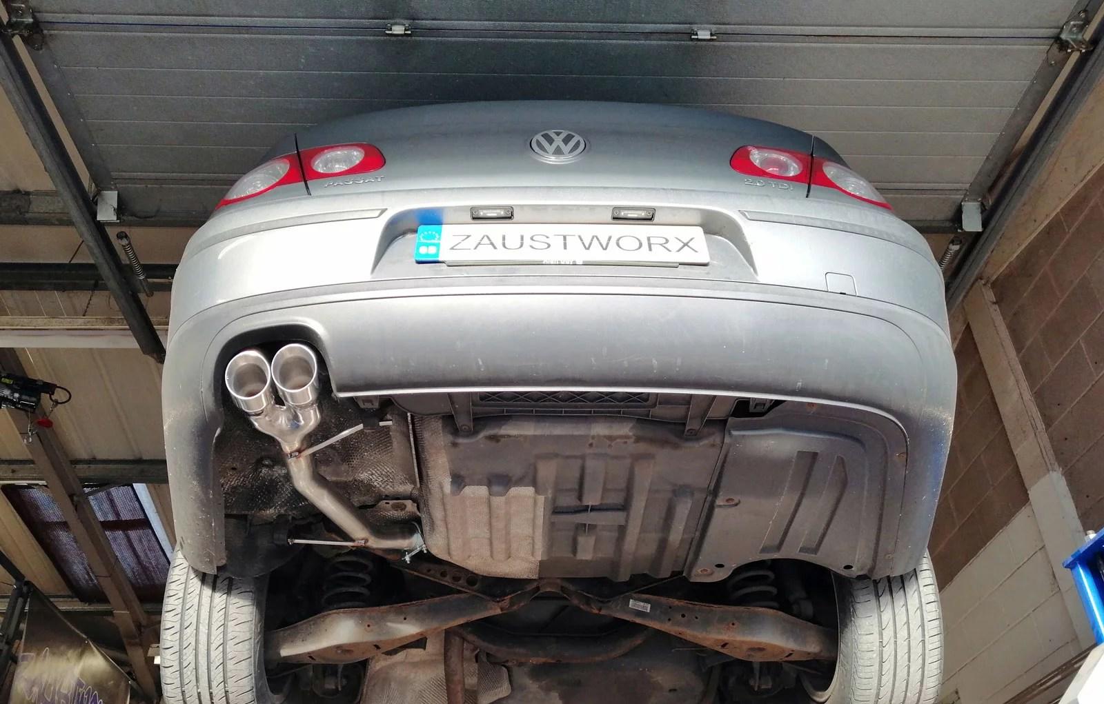 volkswagen passat 2 0 tdi rear silencer delete