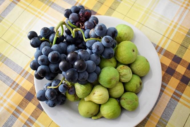 wakacje w chorwacji na własną rękę. owoce, figi i winogrona