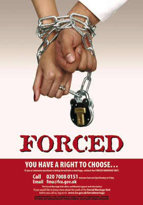 Forced marriage poster for people in the UK