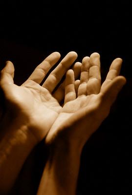 Hands raised in dua