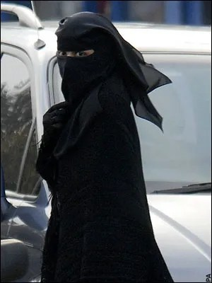 Muslim woman wearing niqabi, known as niqabi
