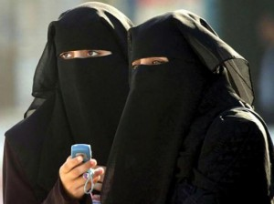 muslim women in burqa