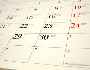 Calendar, time, days months years
