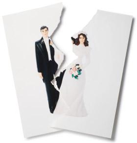 Divorced couple split in two