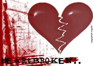 Heartbroken, broken heart