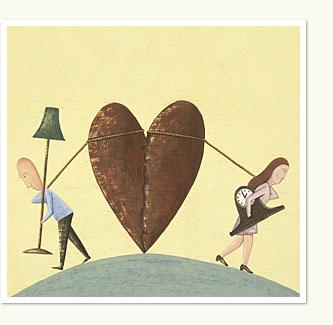 Divorce, couple divorcing, breaking up