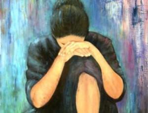 woman in regret