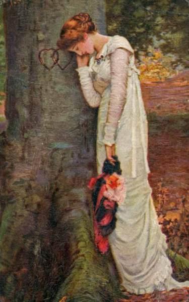 depressed woman lost love
