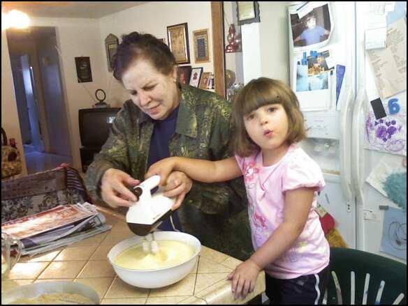 Wael's daughter Salma making cookies