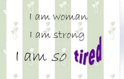 woman tired independant single