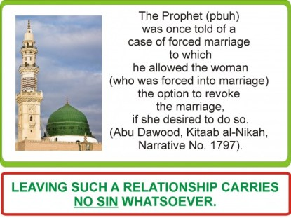 Forced marriage hadith