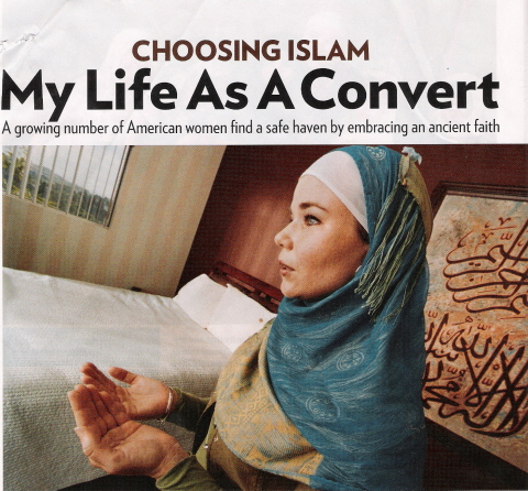 Muslim woman, female Muslim convert, Converting to Islam